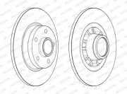 Тормозной диск FERODO DDF2602-1
