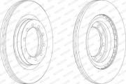 Тормозной диск FERODO FCR183A