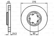 Тормозной диск BOSCH 0986478299
