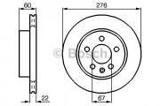 Тормозной диск BOSCH 0986478861