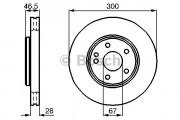 Тормозной диск BOSCH 0986478876