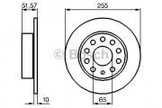 Тормозной диск BOSCH 0986479099