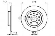 Гальмівний диск BOSCH 0986479106