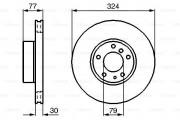 Тормозной диск BOSCH 0986479116