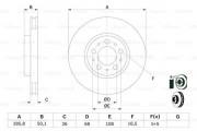 Тормозной диск BOSCH 0986479210
