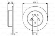 Гальмівний диск BOSCH 0 986 479 R00