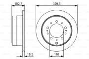 Тормозной диск BOSCH 0 986 479 R15