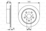 Тормозной диск BOSCH 0 986 479 R25