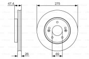 Тормозной диск BOSCH 0 986 479 R26