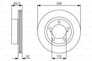 Тормозной диск BOSCH 0 986 479 R29