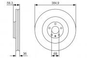 Гальмівний диск BOSCH 0 986 479 R30