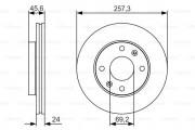 Тормозной диск BOSCH 0 986 479 S03