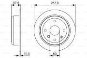 Тормозной диск BOSCH 0 986 479 S08