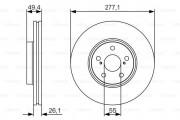 Гальмівний диск BOSCH 0 986 479 S09