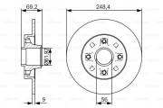 Тормозной диск BOSCH 0 986 479 S43