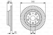 Тормозной диск BOSCH 0 986 479 T06