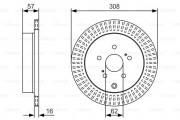 Тормозной диск BOSCH 0 986 479 T16