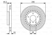 Тормозной диск BOSCH 0 986 479 T44