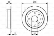 Тормозной диск BOSCH 0 986 479 T52