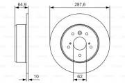 Тормозной диск BOSCH 0 986 479 T69
