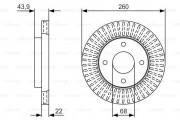 Тормозной диск BOSCH 0 986 479 U61