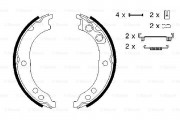 Bosch Барабанные тормозные колодки BOSCH 0986487712