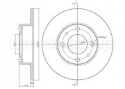 Гальмівний диск METELLI 23-0014
