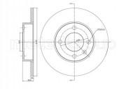 Гальмівний диск METELLI 23-0054