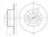Гальмівний диск METELLI 23-0074