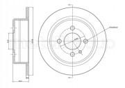 Тормозной диск METELLI 23-0084