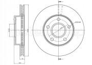 Гальмівний диск METELLI 23-0120