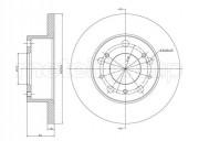 Гальмівний диск METELLI 23-0134