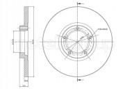 Гальмівний диск METELLI 23-0163