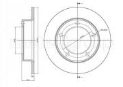 Гальмівний диск METELLI 23-0206