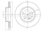 Гальмівний диск METELLI 23-0521