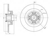 Гальмівний диск METELLI 23-0804