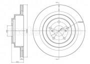 Гальмівний диск METELLI 23-1149C