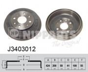 Тормозной барабан NIPPARTS J3403012