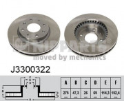 Тормозной диск NIPPARTS J3300322