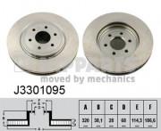 Тормозной диск NIPPARTS J3301095