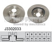 Тормозной диск NIPPARTS J3302033