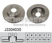 Тормозной диск NIPPARTS J3304030