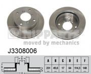 Тормозной диск NIPPARTS J3308006