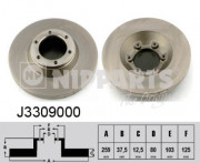 Тормозной диск NIPPARTS J3309000