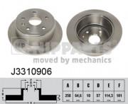 Тормозной диск NIPPARTS J3310906