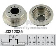 Тормозной диск NIPPARTS J3312035