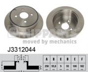 Тормозной диск NIPPARTS J3312044