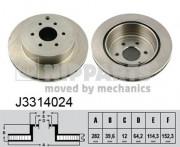Тормозной диск NIPPARTS J3314024