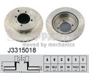Тормозной диск NIPPARTS J3315018