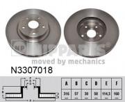 Тормозной диск NIPPARTS N3307018